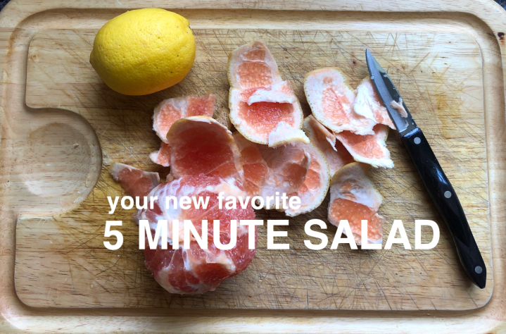 5 Minute Recipe: Grapefruit Salad